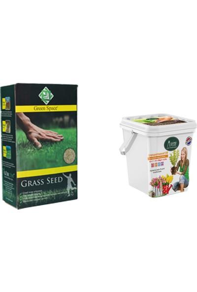 Gürçim 1 kg Çim Tohumu ve 3 kg Bakım Gübresi