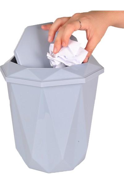 Bimbambom Prizma Çöp Kovası, Vanity Renkli Banyo Mutfak Çöp Kovası 5.5 lt