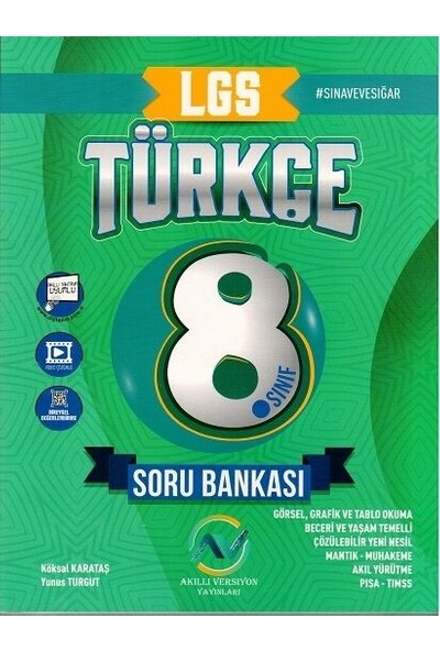 Av Akıllı Versiyon Yayınları 8. Sınıf LGS Türkçe Soru Bankası - Köksal Karataş