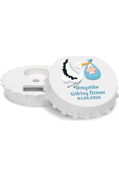Grafilli Design Kişiye Özel Hoşgeldin Bebek Magnet Açacak (10 Adet)