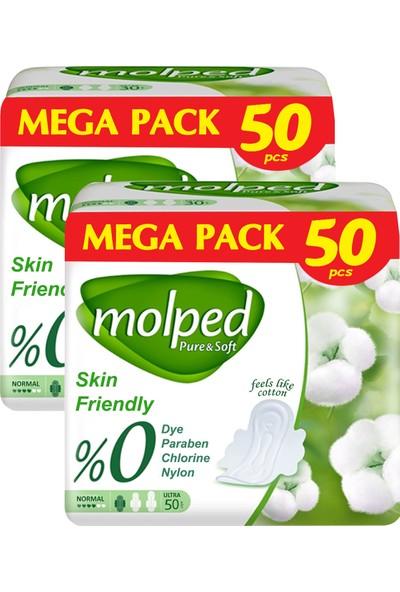 Molped Pure & Soft Hijyenik Ped Normal Mega Fırsat 50'li x 2 Paket