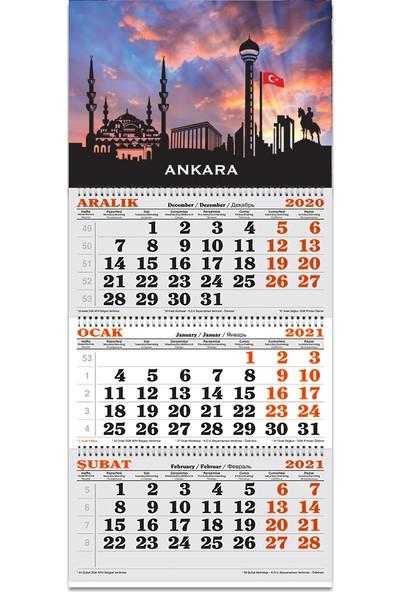 Keskin Color 3 Aylik Spiralli Denizci - Takvimi Ankara 2021