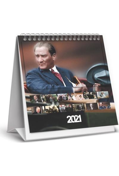 Keskin Color Kare Masa Takvimi - Atatürk 2021
