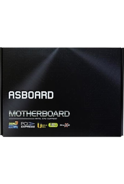 Asboard H61 intel 1600MHz DDR3 USB 3.0 1155Pin mATX Anakart