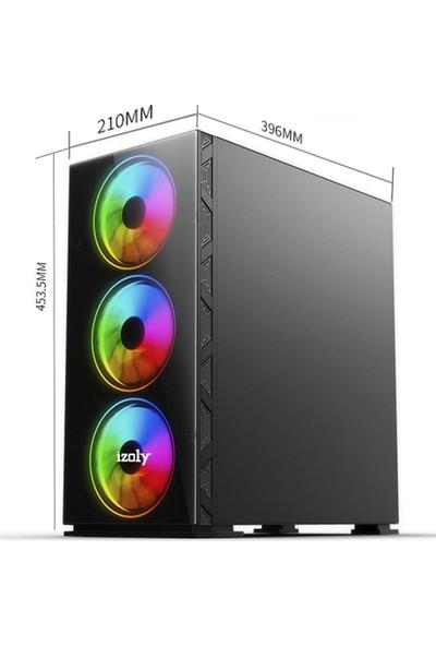 İzoly ARGB Cyberpunk AX6 4 x 12 cm Full Glass 700W 80+ Oyuncu Bilgisayar Kasası