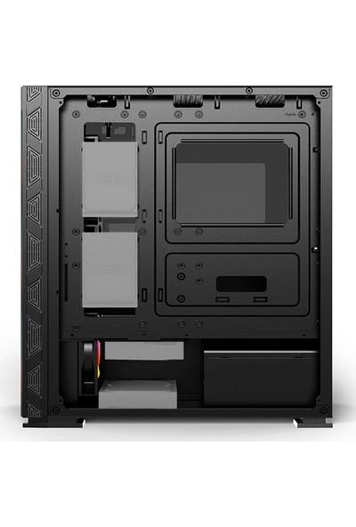Izoly ARGB Cyberpunk AX3 ARGB Board Full Glass 500W 80+ Oyuncu Bilgisayar Kasası