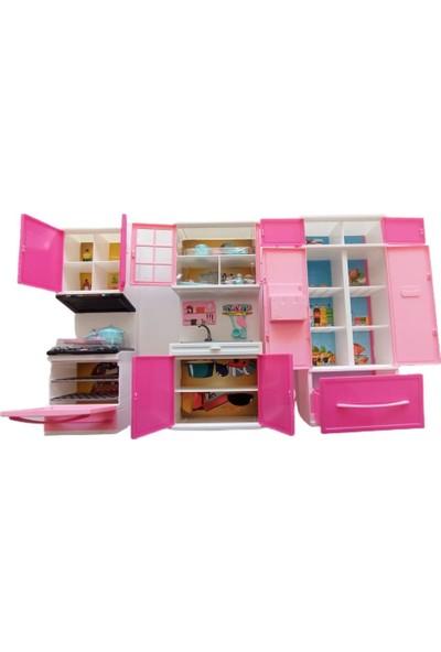 Kayyum Oyuncak Pilli Işıklı Üçlü Mutfak Seti Model 1