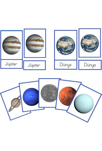 Montessori Gemisi 3 Parçalı Kartlar Güneş Sistemi ve Gezegenler Serisi