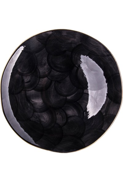 Marianna Bulut Servıs Tabak Siyah