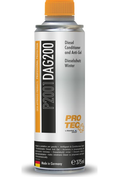 Protec Dizel Donma Önleyici 375 ml - Kışlık Dizel Yakıt Katkısı