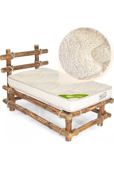 Kiwi %100 Organik Pamuk Akıllı Süngerli (Viskolu) Bebek Yatağı