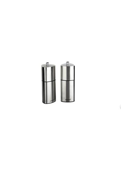 Ultraform Metal Karabiber ve Tuz Değirmen Seti 15 cm