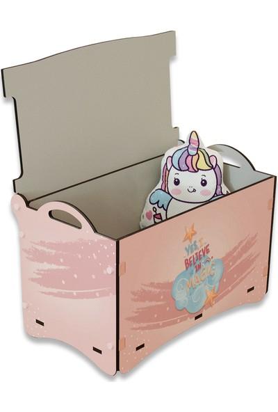 Popcorn Kids Unıcorn Oyuncak Kutusu Sandık