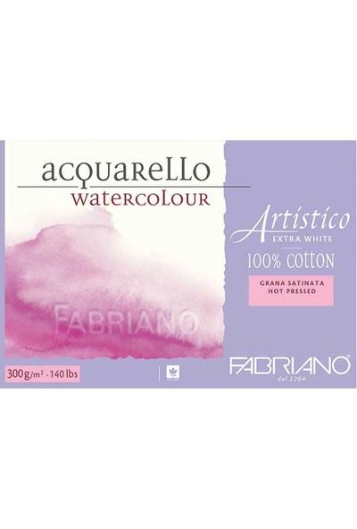 Fabriano Artistico Extra White Sulu Boya Defteri Sıcak Baskı - Düz Doku 300 gr 12 Yaprak 31 x 41 cm