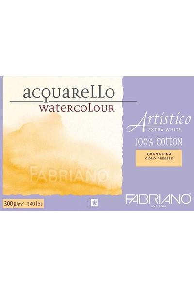 Fabriano Artistico Extra White Sulu Boya Defteri Soğuk Baskı - Orta Doku 300 gr 12 Yaprak 18 x 26 cm