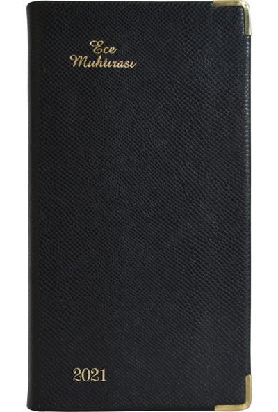 Ece Ajandası - 2021 Muhtıra Koleksiyonu - 4 Dl Karaköy 8,5 x 16 cm Siyah
