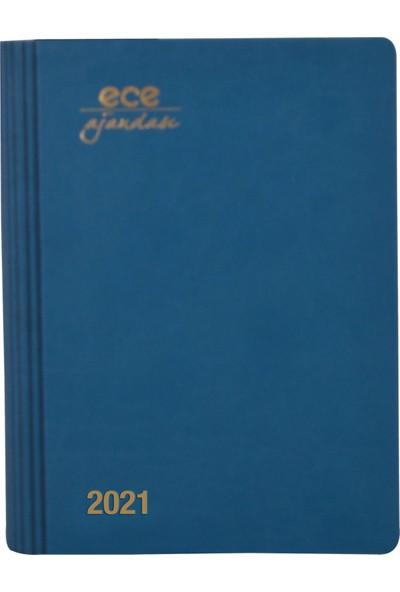 Ece Ajandası - 2021 Sahil Koleksiyonu - Marmaris 12 x 16 cm Mavi