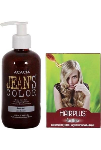 Acacia Jeans Color Saç Boyası Gün Batımı 250ml ve Hairplus Saç Açıcı