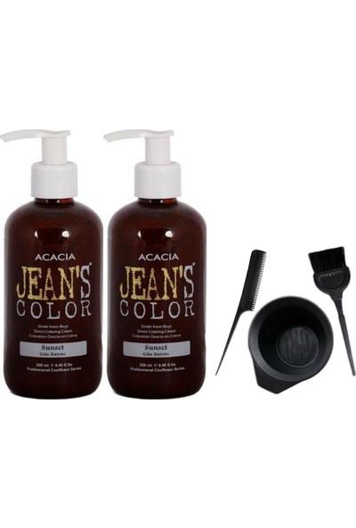 Acacia Jeans Color Saç Boyası Gün Batımı 250ml 2AD ve Boya Kabı Seti