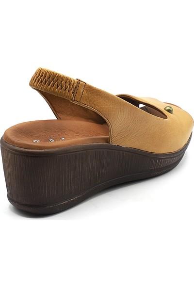 Pierre Cardin Taba Dolgu Topuk Kadın Sandalet Pcs-6041
