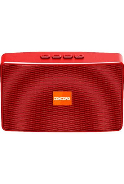 Concord C8205 Bluetooth Kablosuz Hoparlör - Kırmızı
