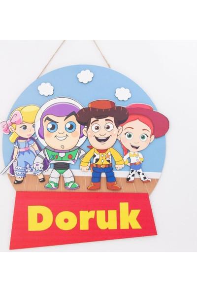 Meşgalem Kişiye Özel Çocuk Odası Toy Story Kapı Süsü