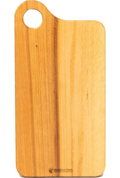 Bungalowa® Yuvarlak Sap Masif Ahşap Kesme ve Sunum Tahtası