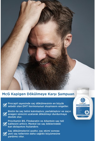 Mcg Yeni Kapigen Saç Dökülmesine Karşı Etkili Procapil Şampuan