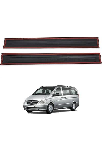 Mercedes Vito W639 Kapı Eşiği Koruma (ABS) Mat Siyah 2 Parça 2011-2014