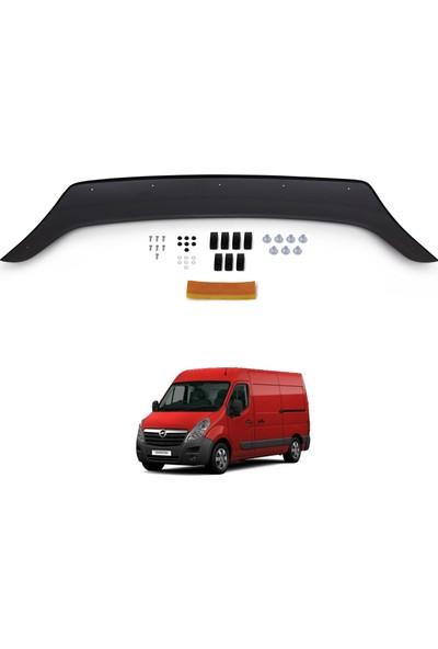 Opel Movano Ön Kaput Koruyucu Rüzgarlık Deflektör Akrilik ABS 4mm Parlak Siyah 2010 ve Sonrası