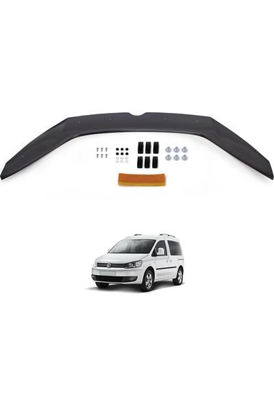 Volkswagen Caddy Ön Kaput Koruyucu Rüzgarlık Deflektör Akrilik ABS 4mm Parlak Siyah 2010-2015
