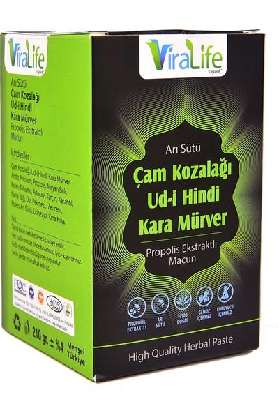 ViraLife Organik Arı Sütü Çam Kozalağı Udi Hindi Karamürverli Macun 210 gr