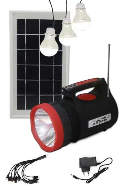 Gold Silver GS-540 Güneş Enerjili, Mp3, Radyo, Bluetooth'lu Fener