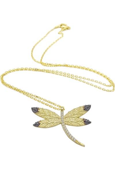Estel Altın Kaplama Gümüş Yusufçuk Kolye