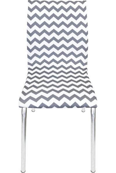 Alya Home Art Sandalye Kılıfı - Moderna Soft Mutfak Tipi 4'lü Set
