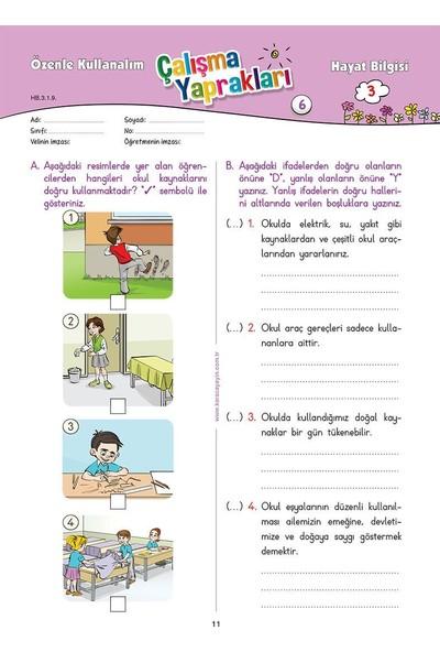 Karaca 3. Sınıf Hayat Bilgisi Etkinlikli Soru Bankası Çalışma Yaprakları