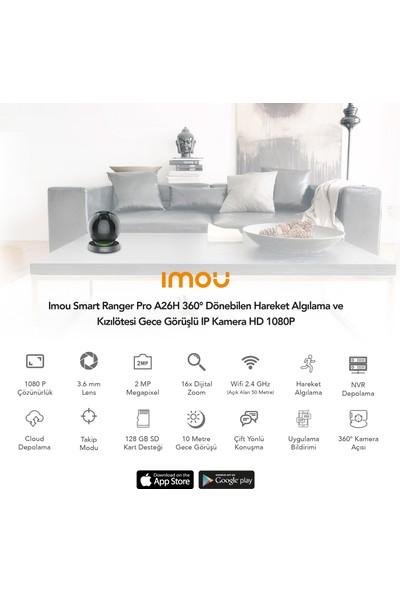 Imou Smart Ranger Pro A26H 360° Dönebilen Hareket Algılama ve Kızılötesi Gece Görüşlü IP Kamera HD 1080P