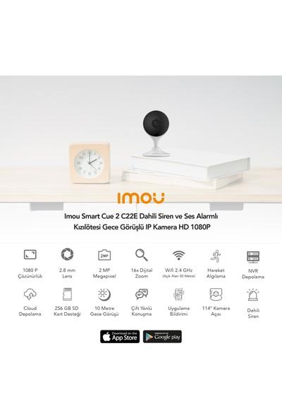 Imou Smart Cue 2 C22E Dahili Siren ve Ses Alarmlı Kızılötesi Gece Görüşlü IP Kamera HD 1080P