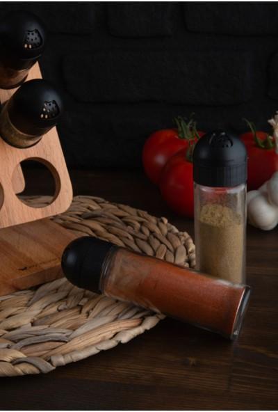Joy Kitchen Julia 6'lı Baharatlık Seti - Siyah Kapaklı
