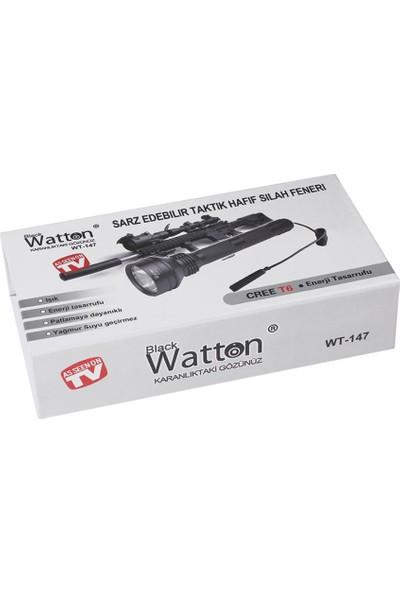 Wtton Pro T6 Güçlü El Feneri Su Geçirmez Avcı Feneri Tüfek Uyumu