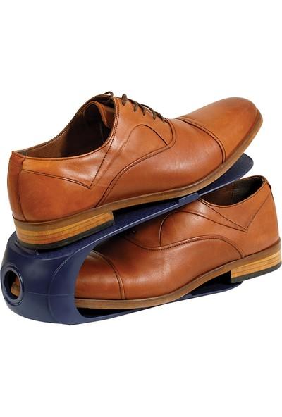 English Home Loya Plastik 2 Katlı Ayakkabı Rampası 10,5x26,3x15 cm Lacivert