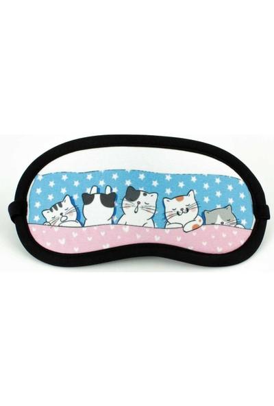 Palto Tasarım Kediler Uyku Bandı