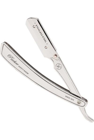 Parker Srx Paslanmaz Çelik Ustura Metal Saplı Sakal Usturası