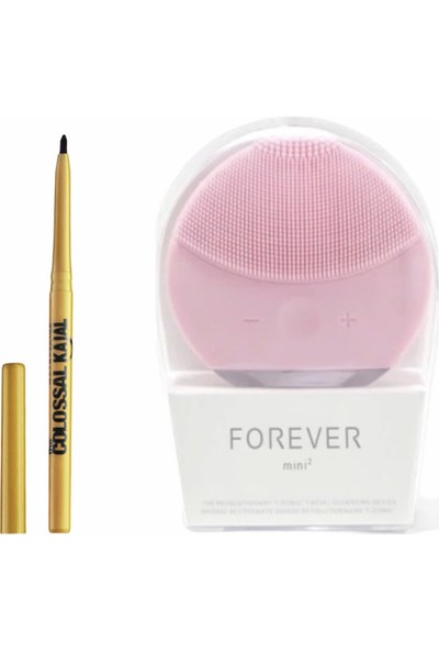 Forever Yüz-Cilt Temizleme ve Masaj Aleti + Colossal Asansörlü Siyah Göz Kalemi