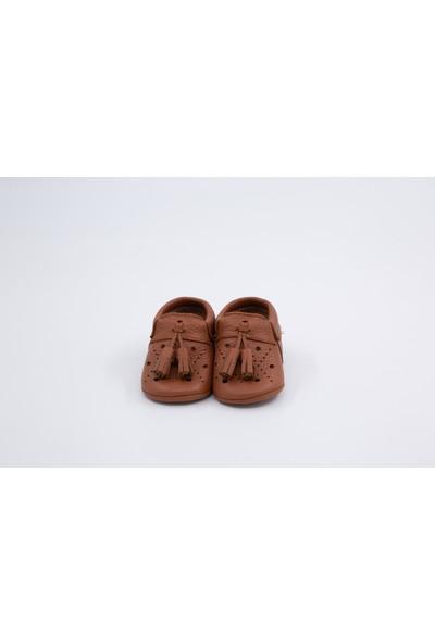 Li Puna Royal Serisi Taba Deri Bebek İlk Adım Ayakkabısı
