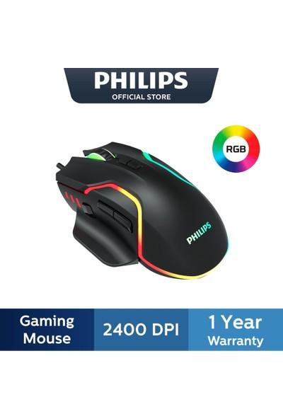 Philips Gaming Mouse 2400DPI Optik Kablolu Gaming Mouse Rgb Aydınlatma Efekti SPK9525