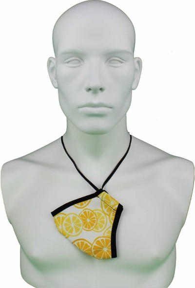 İpeks Yıkanabilir Asmalı Maske Limon