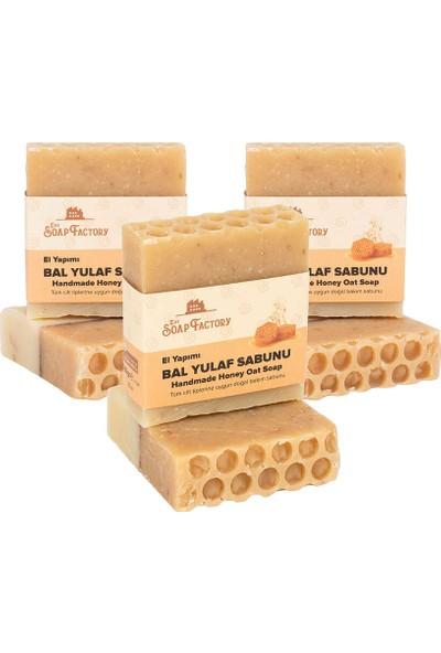 The Soap Factory 3 x The Soap Factory El Yapımı Bal Yulaf Sabunu 100 gr (Toplam 3 Adet)
