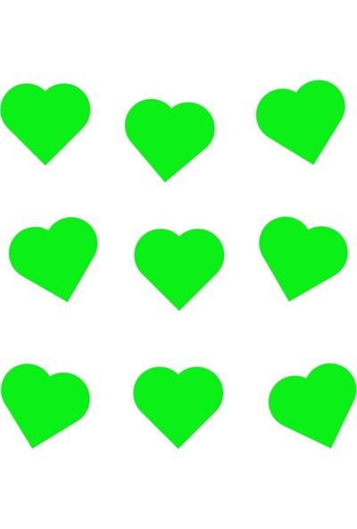 Ahşap Şehri Fosforlu Kalp Şeklinde Duvar Süsü Sticker