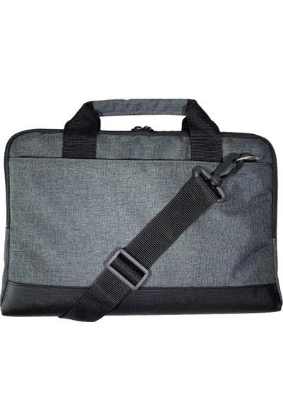 """Moserini 13"""" - 13.3"""" Taban Korumalı. Omuz Askılı Macbook Air-Pro Gri Laptop Çantası"""